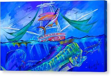 Fish Tanks Canvas Print - The Valarie  by Yusniel Santos