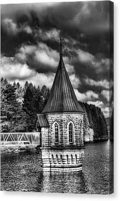 The Valve Tower Mono Canvas Print by Steve Purnell