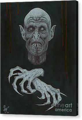 The Vampire Canvas Print by Wave