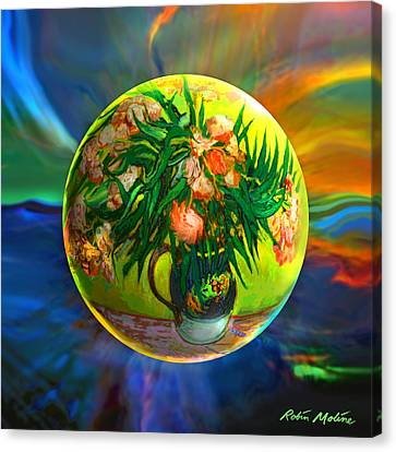 Canvas Print featuring the painting The Van Gloughing Vase by Robin Moline