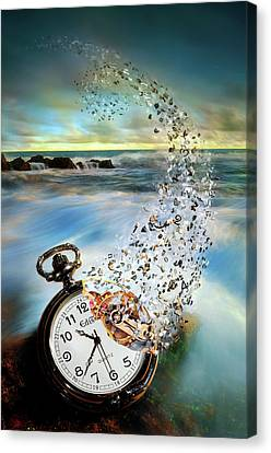 Destruction Canvas Print - The Vanishing Time by Sandy Wijaya