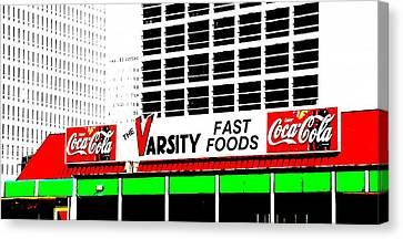 Hamburger Canvas Print - The Varsity Atlanta Pop Art by Dan Sproul