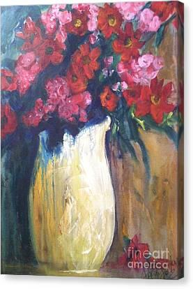 The Vase Canvas Print by Sherry Harradence