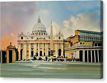 The Vatican Rome Canvas Print by Diana Angstadt