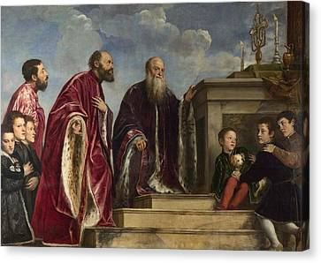The Vendramin Family Canvas Print by Titian