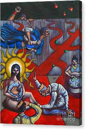 The Veneration Of Counterfeit Gods Canvas Print by Paul Hilario