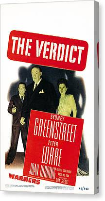 The Verdict, Us Poster Art, From Left Canvas Print