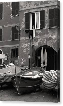 The Vernazza Observer Canvas Print by William Fields