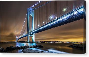 Canvas Print featuring the photograph The Verrazano by Anthony Fields