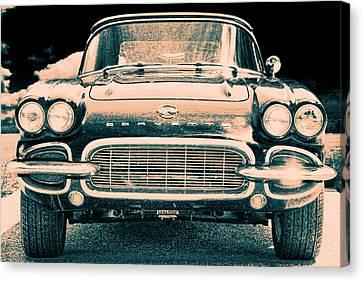 Chevrolet Corvette Vintage Convertible Portrait I Canvas Print by Lesa Fine