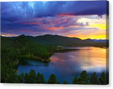 Canvas Print featuring the photograph The Vibrant Storm by Kadek Susanto