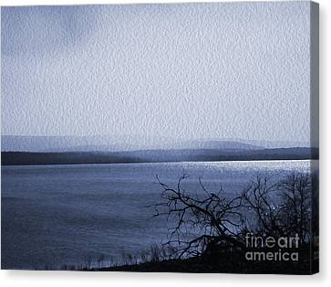 The Victor Landing Blues Canvas Print by R McLellan