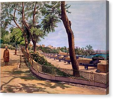 The Victoria Battery, Gibraltar, Print Canvas Print by Captain J. M. Carter