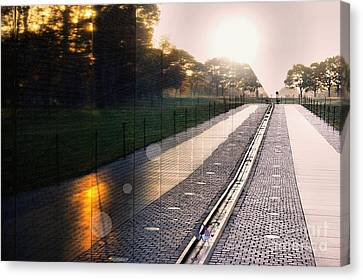 Canvas Print featuring the photograph The Vietnam Wall Memorial  by John S
