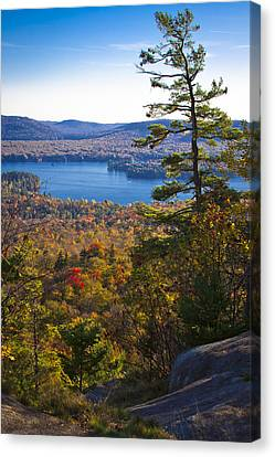 The View From Bald Mountain - Old Forge New York Canvas Print by David Patterson