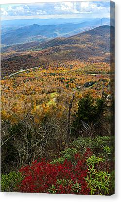 Smokey Mountain Drive Canvas Print - The View From Grandfather Mountain by Andres Leon