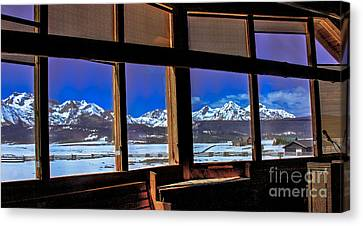 The View From The Sawtooth Valley Meditation Chapel Canvas Print by Robert Bales