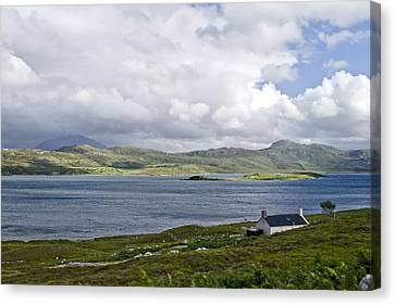 Canvas Print featuring the photograph The View Northern Highlands Of Scotland by Sally Ross