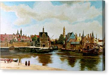 The View Of Delft Canvas Print by Henryk Gorecki