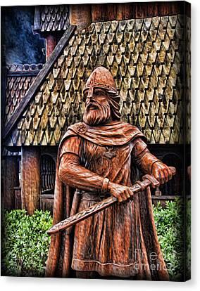 The Viking Warrior Statue  Canvas Print