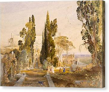 The Villa Deste, Tivoli, 1837 Canvas Print by Samuel Palmer