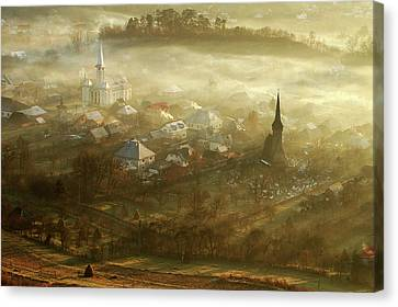 Romania Canvas Print - The Village Born From Fog... by
