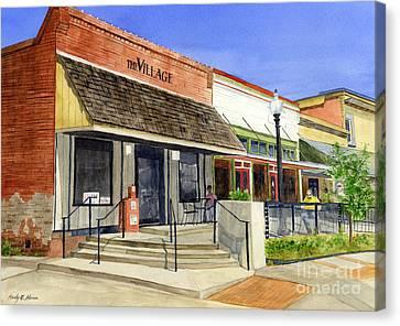 The Village Canvas Print by Hailey E Herrera