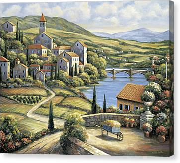 The Village Canvas Print by John Zaccheo