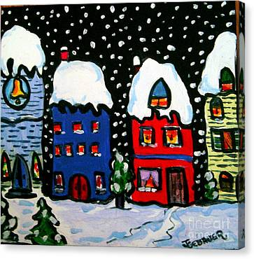 The Village  Canvas Print by Joyce Gebauer