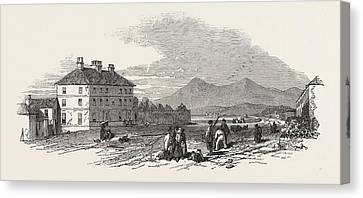 The Village Of Dundrum. Mourn Mountains In The Distance Canvas Print by English School