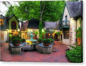 The Village Of Gatlinburg Canvas Print by Greg and Chrystal Mimbs