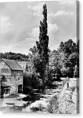 The Village Of Illiers-combray In France Canvas Print by Erwin Blumenfeld