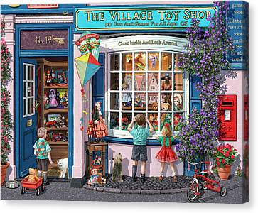 The Village Toy Shop Canvas Print