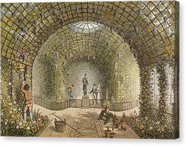 Grapes Canvas Print - The Vinery by Humphry Repton