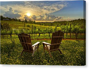Crane Canvas Print - The Vineyard   by Debra and Dave Vanderlaan