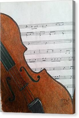 The Violin Canvas Print by Tony Clark
