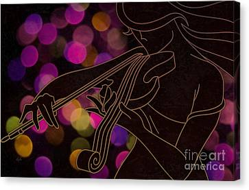 The Violinist Canvas Print by Bedros Awak