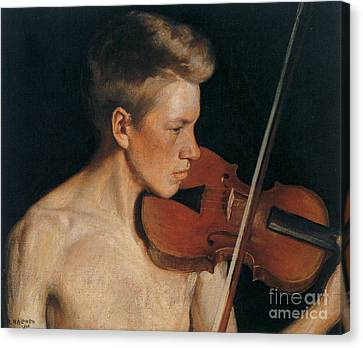 Violin Canvas Print - The Violinist by Celestial Images