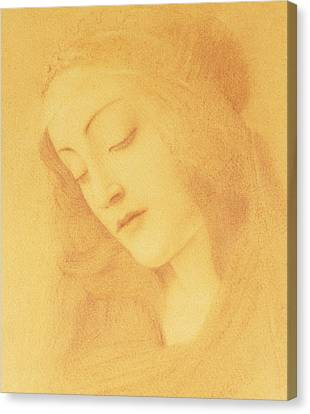 Madonna Canvas Print - The Virgin After Botticelli by Fernand Khnopff