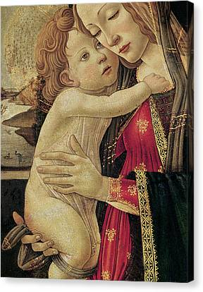 The Virgin And Child Canvas Print by Sandro Botticelli