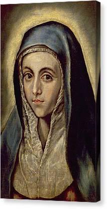 The Virgin Mary Canvas Print by El Greco Domenico Theotocopuli