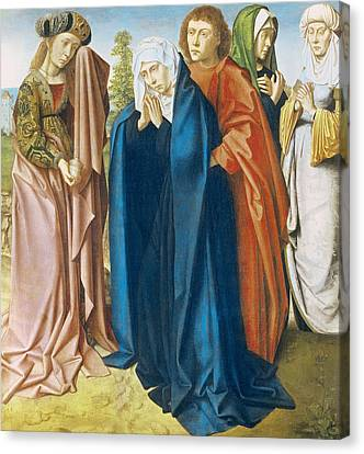 The Virgin Mary With St John The Evangelist And The Holy Women Canvas Print by Gerard David