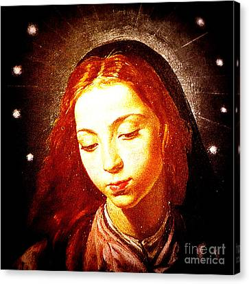 The Virgin Of The Immaculate Conception Canvas Print by Patricia Januszkiewicz