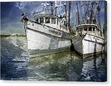 The Virginia Lee And The Miss Harley Canvas Print by Debra and Dave Vanderlaan