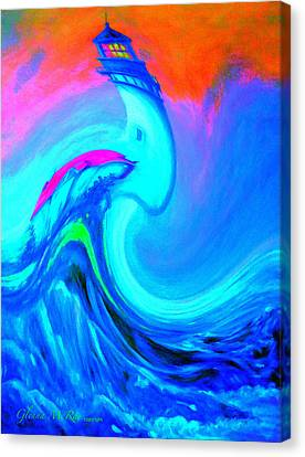 The Vision Of Blue Canvas Print by Glenna McRae