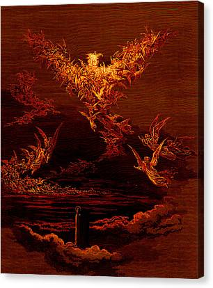 The Vision Of The Sixth Heaven Canvas Print by Gustave Dore