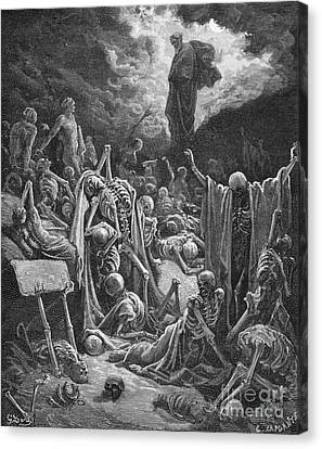 Religious Canvas Print - The Vision Of The Valley Of Dry Bones by Gustave Dore