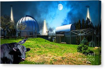 Canvas Print featuring the photograph The Visitors At The Chabot Space And Science Center In The Hills Of Oakland California Dsc912 V2 by Wingsdomain Art and Photography