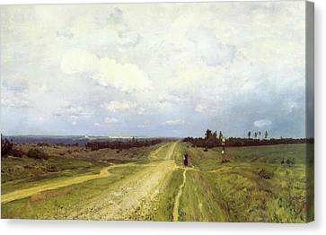 The Vladimirka Road Canvas Print by Isaak Ilyich Levitan