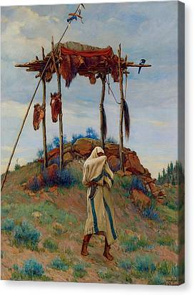 The Voice Of The Great Spirit Canvas Print by Joesph Henry Sharp